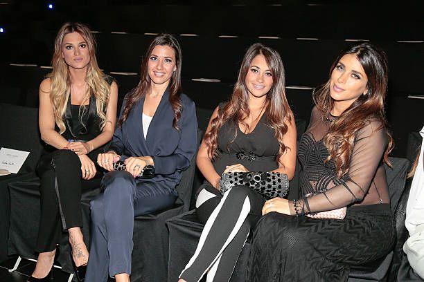 Elena Galera Nuria Cunillera Antonella Rocuzzo and Daniella Semaan attend the Rosa Clara fashion show during 'Barcelona Bridal Week 2015' on May 5...