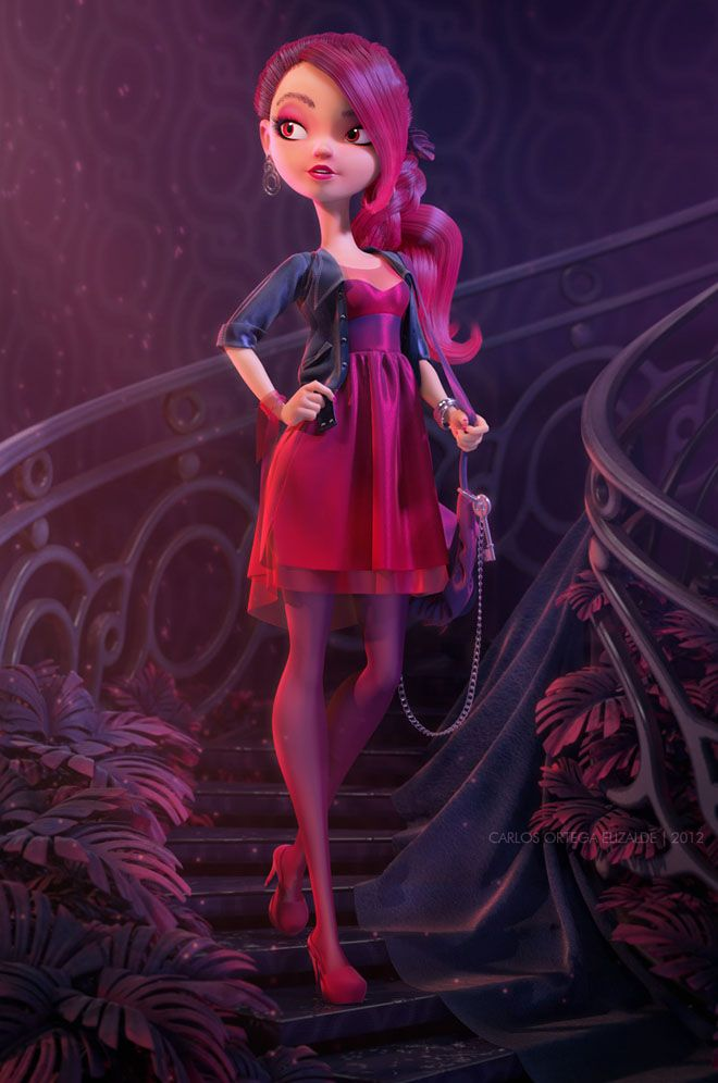 25 Beautiful Fantasy 3D Models and Character designs by Carlos Ortega | Read full article: http://webneel.com/3d-models-fantasy-girls | more http://webneel.com/3d-characters | Follow us www.pinterest.com/webneel