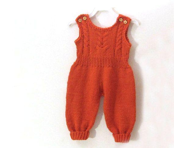 Baby girl overall/ baby girl jumpsuit  romper for by iziknittings, $33.00