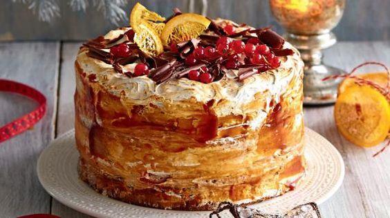 Бисквитный торт с итальянской меренгой, сливочным сыром и карамелью. Пошаговый рецепт с фото на Gastronom.ru