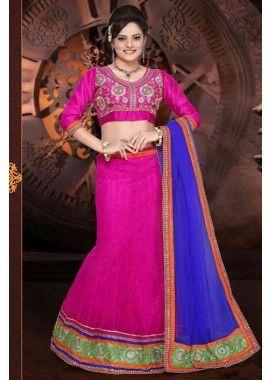 couleur rose net lehenga semi-cousu, - 194,00 €, #Robepakistanaisepascher #Lehengamariage #Lehengacholipascher #Shopkund