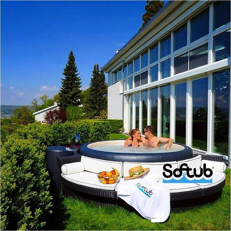 Softub in the summer