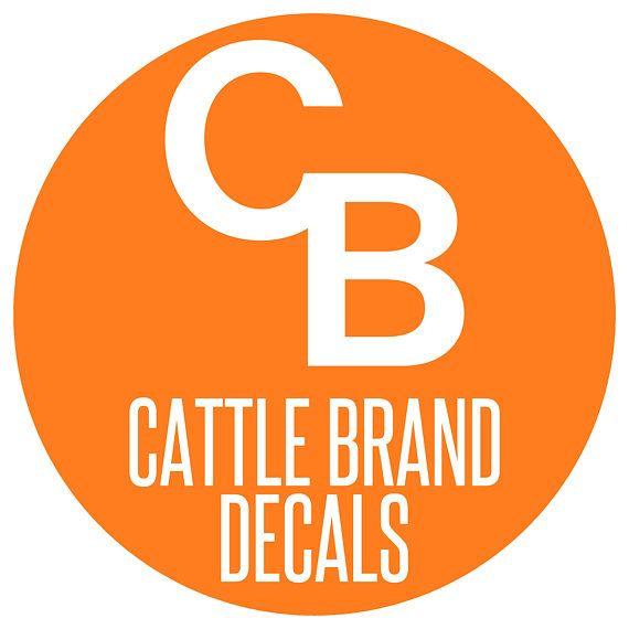 Custom Cattle Brand Decal Custom Livestock Brand Decal