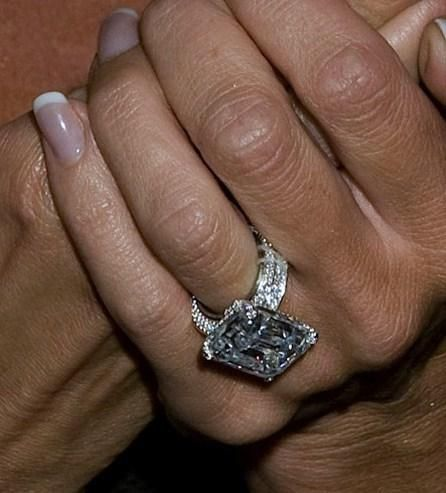 Engagement Rings Victoria Beckham ~ the emerald shaped diamond