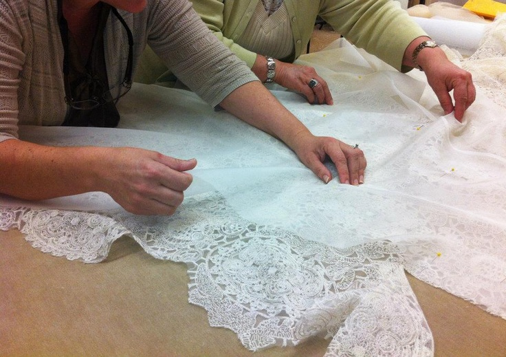 Creating a wedding gown at Sareh Nouri #sarehnouri #bridal #weddings