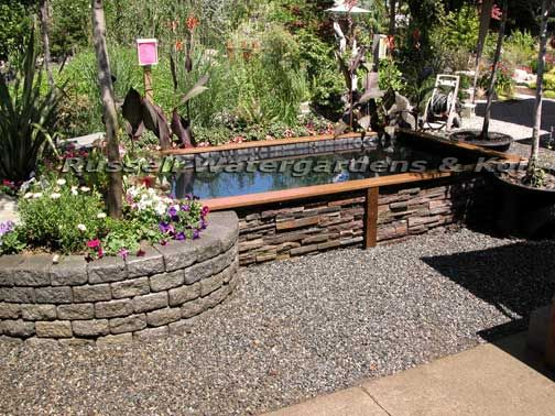 56 best images about koi ponds on pinterest ponds for Above ground koi fish pond