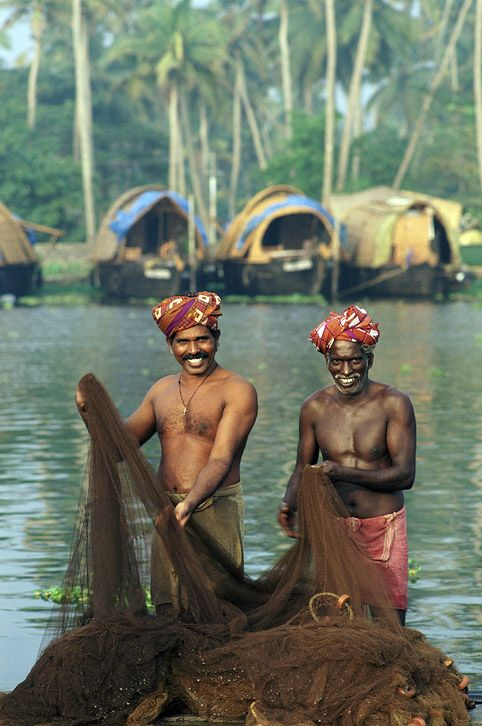 C'est l'heure de la pêche au Kerala en Inde