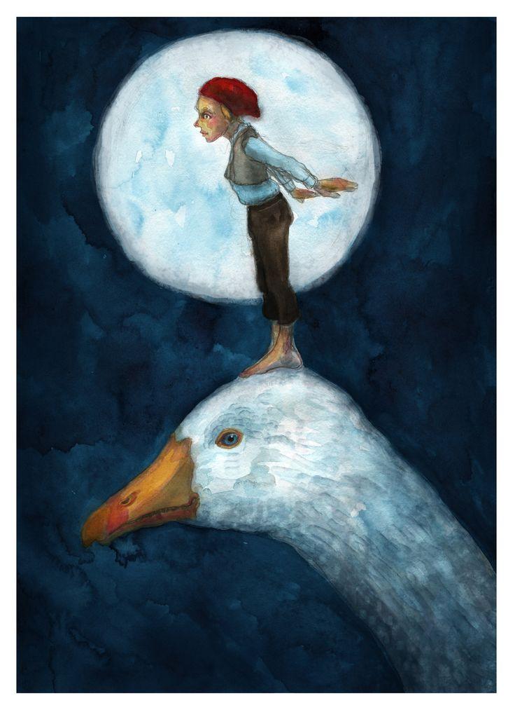 """""""Nils Holgersson""""  - artwork by eileen marie tretter - sashura art"""