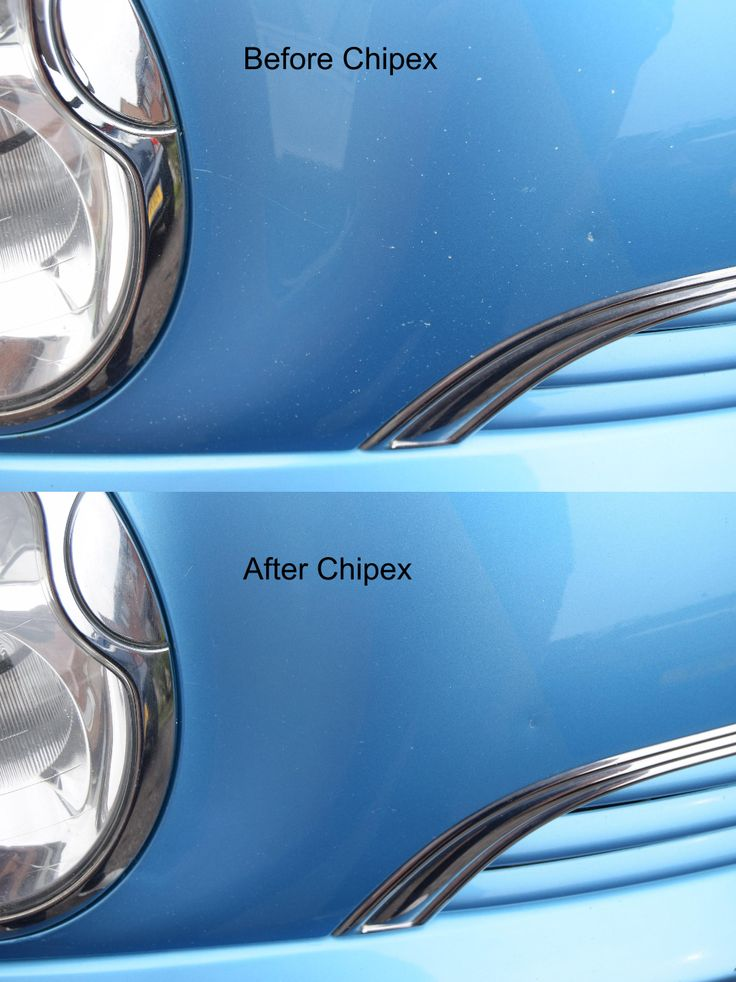 Before and after shots from a customer having used #Chipex.  Chipex is the best you will get at fixing your stone chips without paying for a respray.