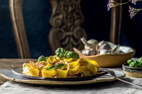 Wypróbuj pappardelle z szynką parmeńską i gorgonzolą według przepisu Stefano Terrazzino! Przepis znajdziesz w Kuchni Lidla!
