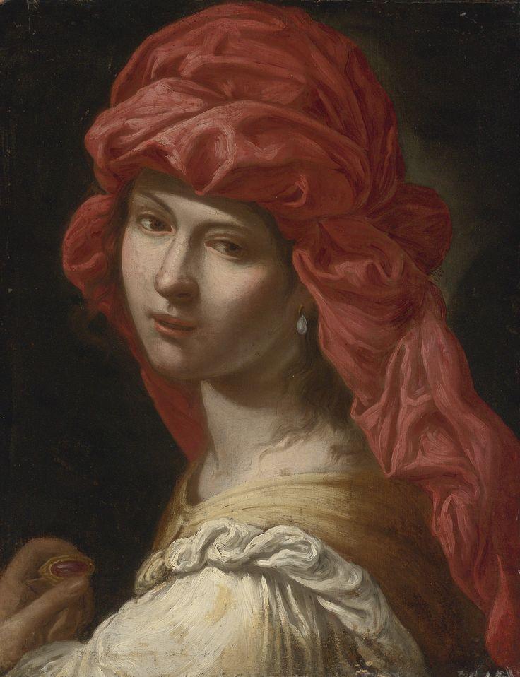 Roman School, 17th Century - Head of a Sybil. Sotheby's