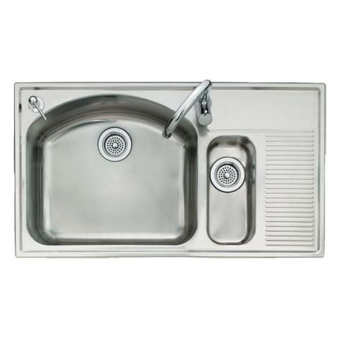 Kitchen Sinks - American Standard Canada Culinaire Top Mount Dual Level Sink & Drain Board
