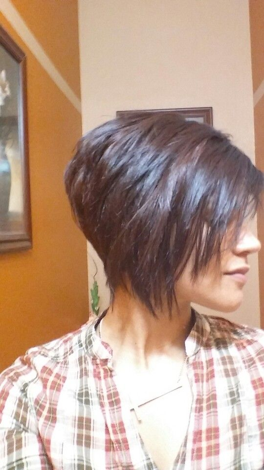 Asymmetrical haircut - maybe not so exaggerated for me…but I do like it
