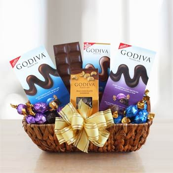202 best healthy gift baskets images on pinterest basket gift godiva chocolate holiday gift basket negle Choice Image