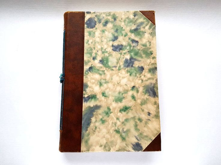 Sketch book, art journal, book, re-purposed book, Bali, watercolour paper, brown, creme, green, mixed media book, vintage, vintage book by BucketOfBadgers on Etsy
