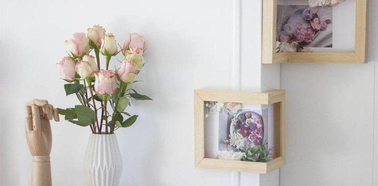 DIY : Fabriquez des cadres d'angle qui jouent avec le relief.  Un tuto réalisé par : Andréa Rolland - La Délicate Parenthèse