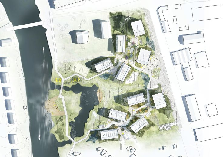 Holzstadt Örnsro - C.F. Moeller gewinnen in Schweden
