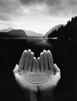 Jerry Uelsmann - forerunner of photomontage.  This guy was doing what we do in photoshop, but working meticulously in the dark room.  He broke the rules of photography to develop some beautifully strange and surreal imagery.