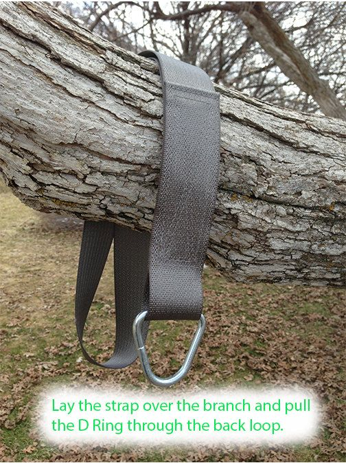 Tree Swing Hanging Kit Single Strap for by WoodenRopeTreeSwings