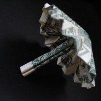 A Arte do Origami em Dolares
