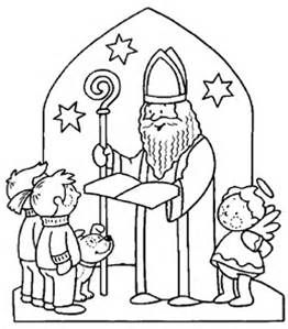 dessins de saint nicolas a colorier - Bing images