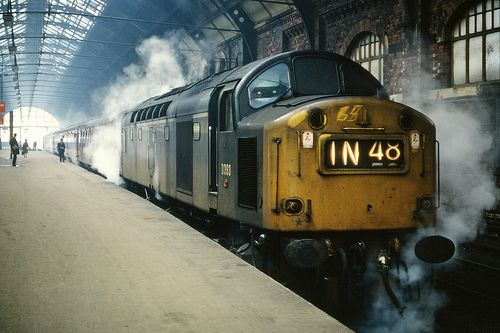 English Electric Class 40, a class made famous for being a flagship when new and one of it's members being involved in the Great Train Robbery, 1963. Built 1958 - 62.