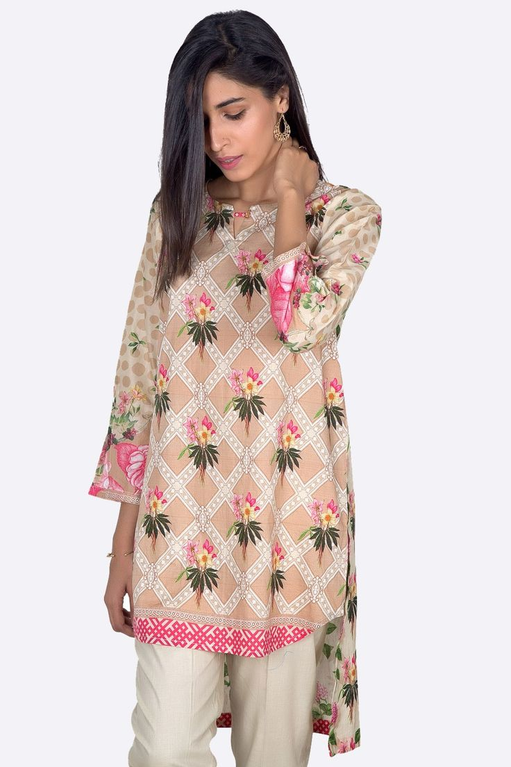 Tropical Paradise Named Pakistani Ready To Wear Cambric Kurti In Sand Color For Online Shopping By Zeen Cambridge Pre Fall Collection 2017. #wintercollection #blackfriday #readytowear #pretwear #unstitched #online #linen #linencollection #lahore #karachi #islamabad #newyork #london #pakistan #pakistani #indian #alkaram #breakout #zeen #khaadi #sanasafinaz #limelight #nishat #khaddar #daraz #gulahmed #2017 #2018 #blackfriday #pakistani_dresses #best_price #indian_dresses