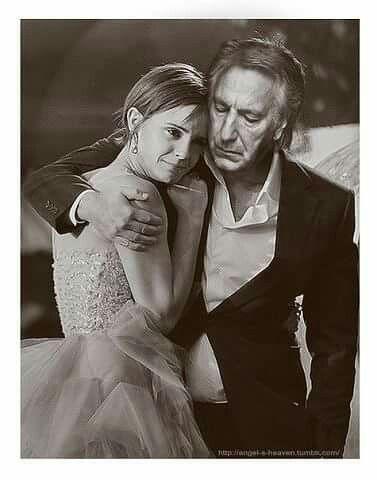 Hug Emma Watson and Alan Rickman