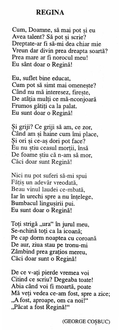 Carmen Sylva - Regina (my favourite poem of hers)