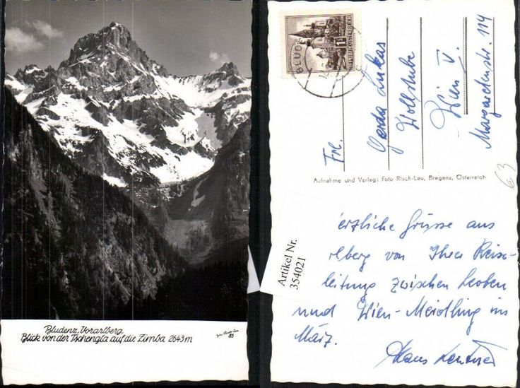 354021,Bludenz Blick von d. Tschengla auf die Zimba Bergkulisse pub Risch-Lau 85
