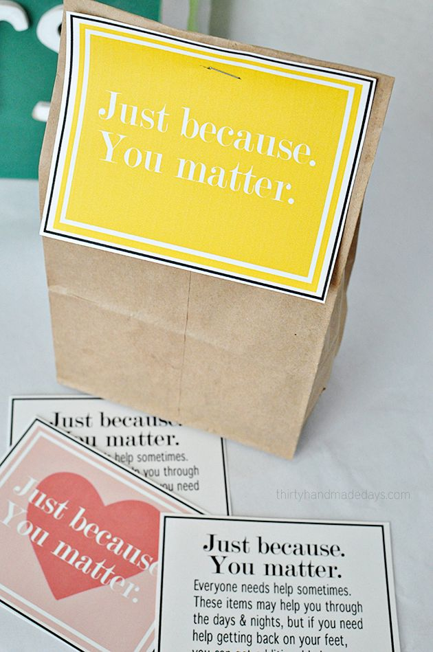 Printables for Blessing Bags from www.thirtyhandmadedays.com
