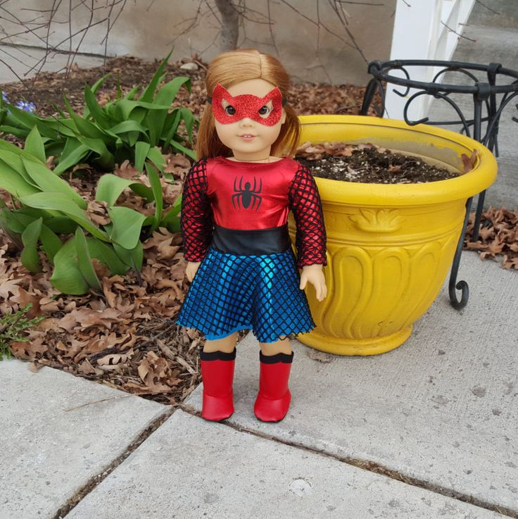 Spiderman outfit for 18 inch dolls, Spiderman doll costume, Spidergirl doll, Spiderman doll, American Girl Spiderman by HermanaRed on Etsy