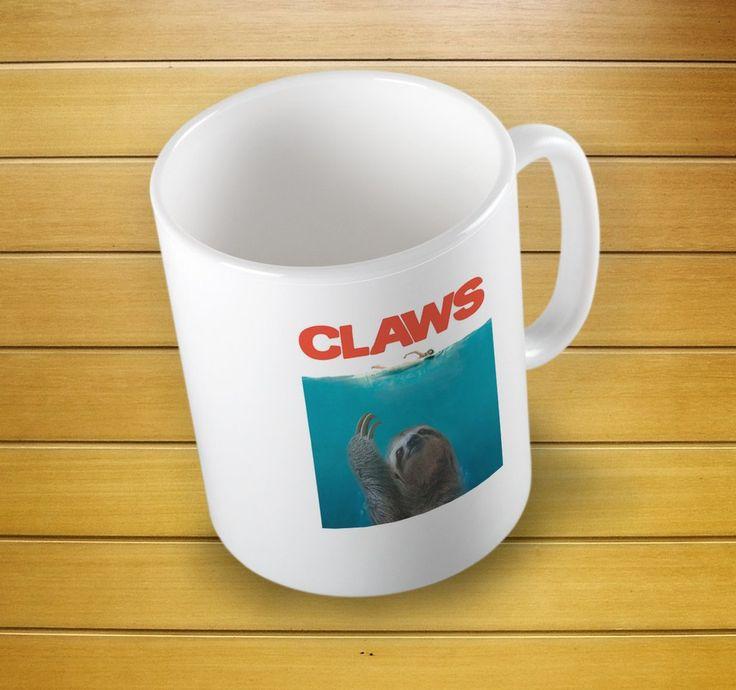 Sloth Claws Funny Mug #funnymug #slothmug #fun #animalmug #slothcup #slothclawscup #slothclawsmug #mugs #mug #whitemug #drinkware #drink&barware #ceramicmug #coffeemug #teamug #kitchen&dining #giftmugs #cup #home&living #funnymugs #funnycoffecup #funnygifts