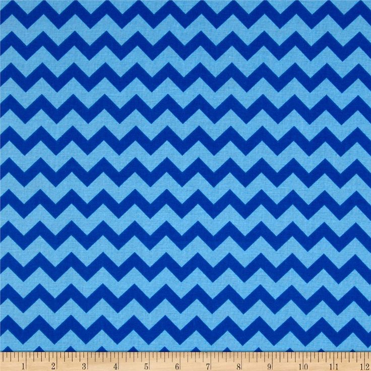 Chevron Tonal Royal/Blue from @fabricdotcom  This cotton print includes shades of blue. Use for quilting and craft projects.
