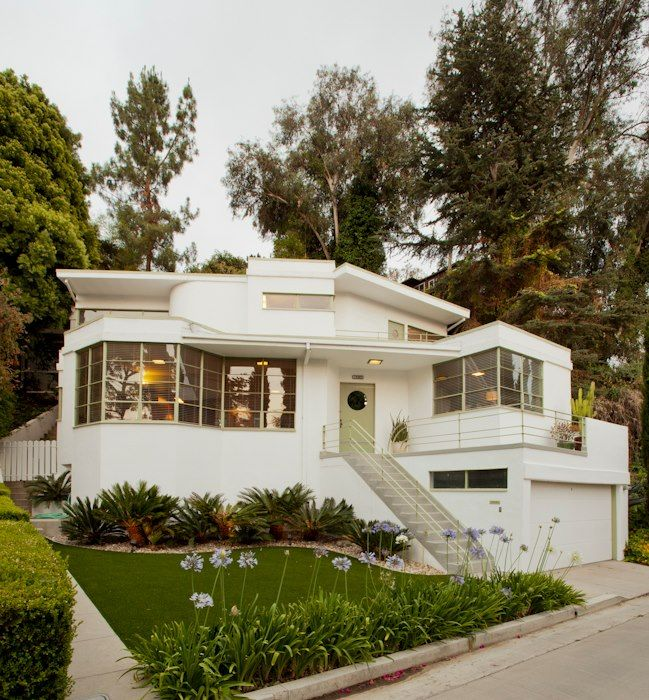 142 best images about streamline moderne houses on for Streamline moderne house plans