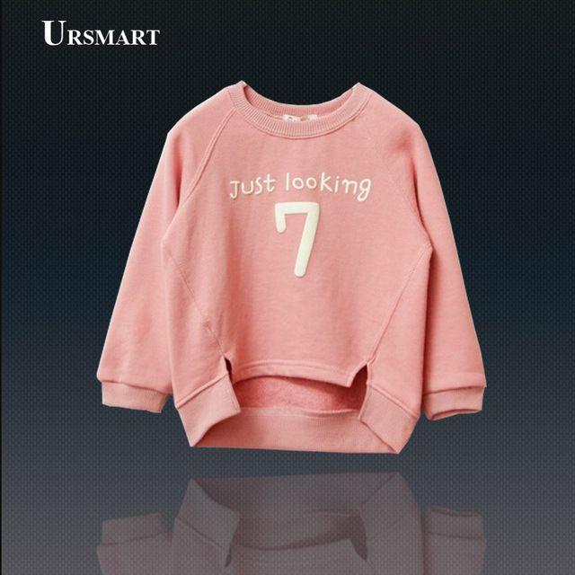 Девочки Sweatershirt новый 2014 весна осень письмо дети толстовки дети спортивная одежда все для детская одежда и аксессуары