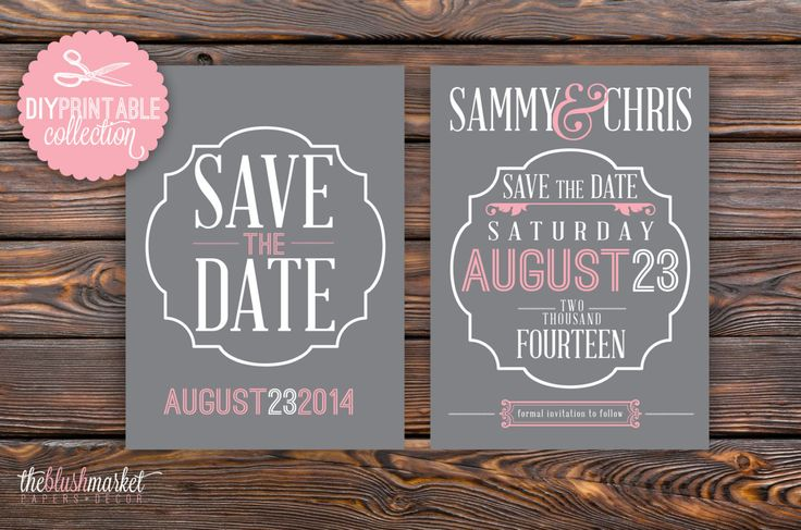 DIY, Save the Date Printable Vintage, 5x7