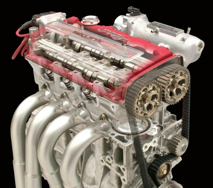 Honda B Series Engine Cutaway