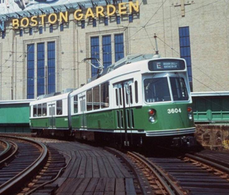 Boston, Boston Garden, Green Line, T, E Street, Late 80's