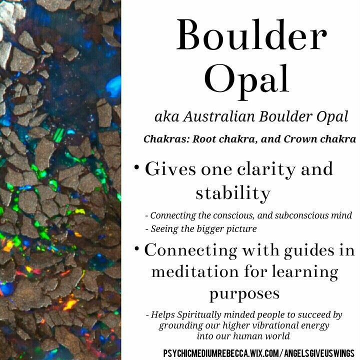 Boulder Opal crystal meaning