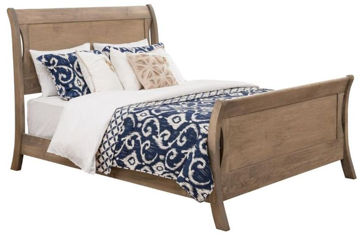 Amish Transitions Sleigh Bed  - Keystone Collection