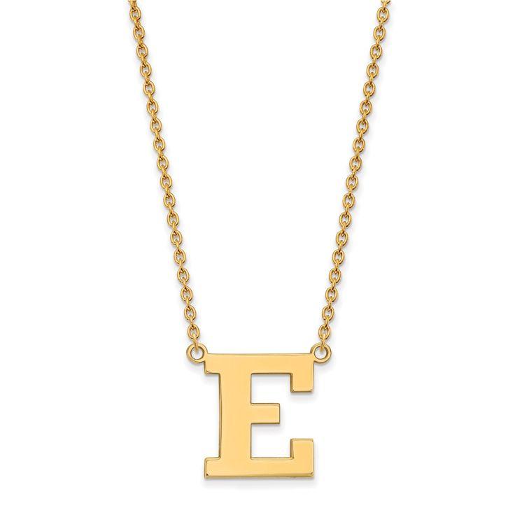 14ky LogoArt Eastern Michigan University Pendant with Necklace
