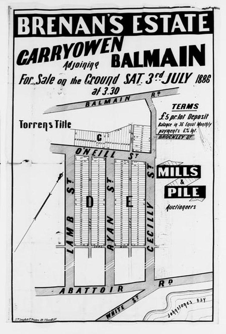 Brenan's Estate : Sale plan.