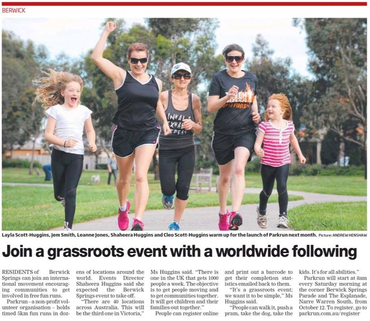 Berwick Springs parkrun, launching 12th Oct, gets a plug in the Berwick Leader (Sept 2013) https://www.facebook.com/photo.php?fbid=234016290087131&set=a.211300409025386.1073741826.211298775692216&type=1&theater