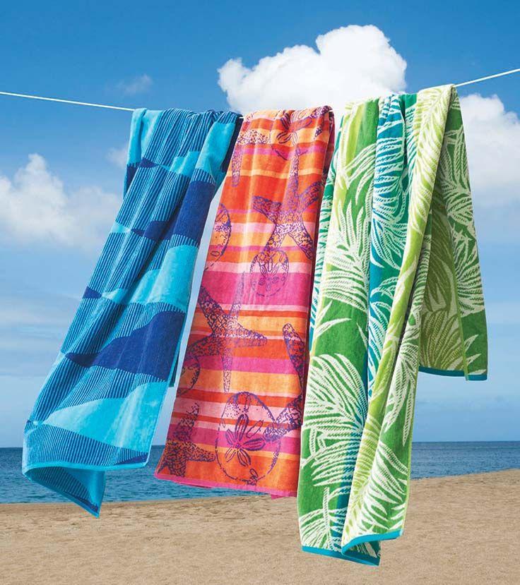 Better Homes And Gardens Starfish U0026 Sand Dollars Striped Beach Towel
