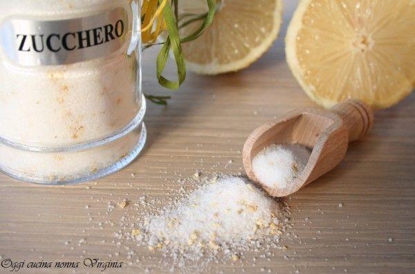 Zucchero aromatizzato al limone