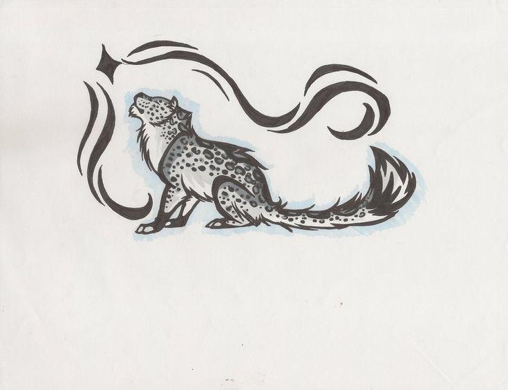 snow leopard tattoo by linkfreak210 on DeviantArt