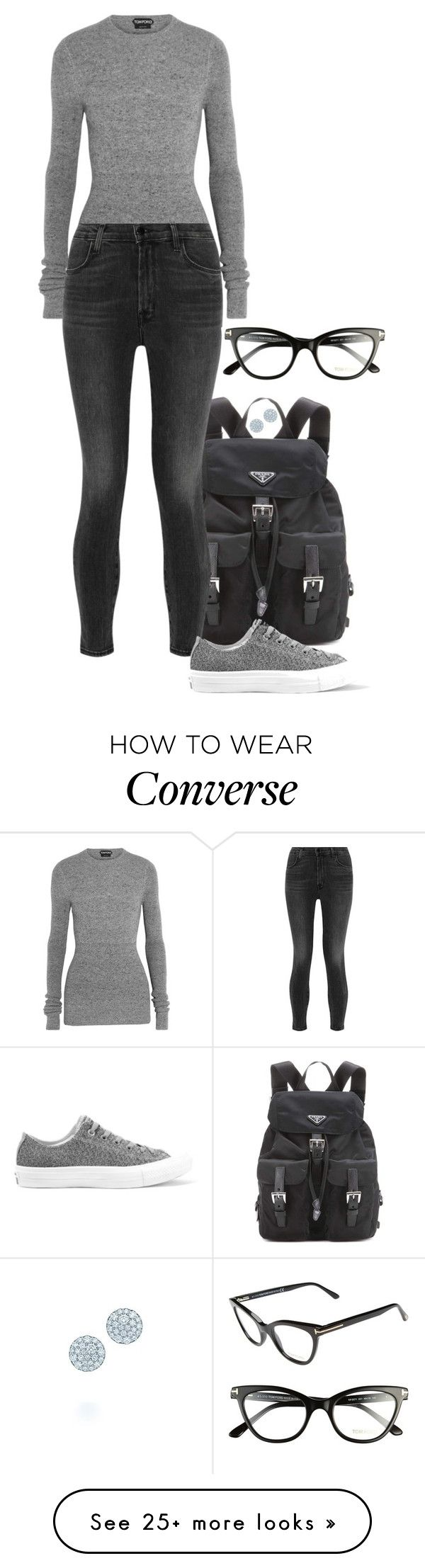 """""""Mesh II."""" by foreverforbiddenromancefashion on Polyvore featuring Prada, Tom Ford, J Brand, Converse and Tiffany & Co."""