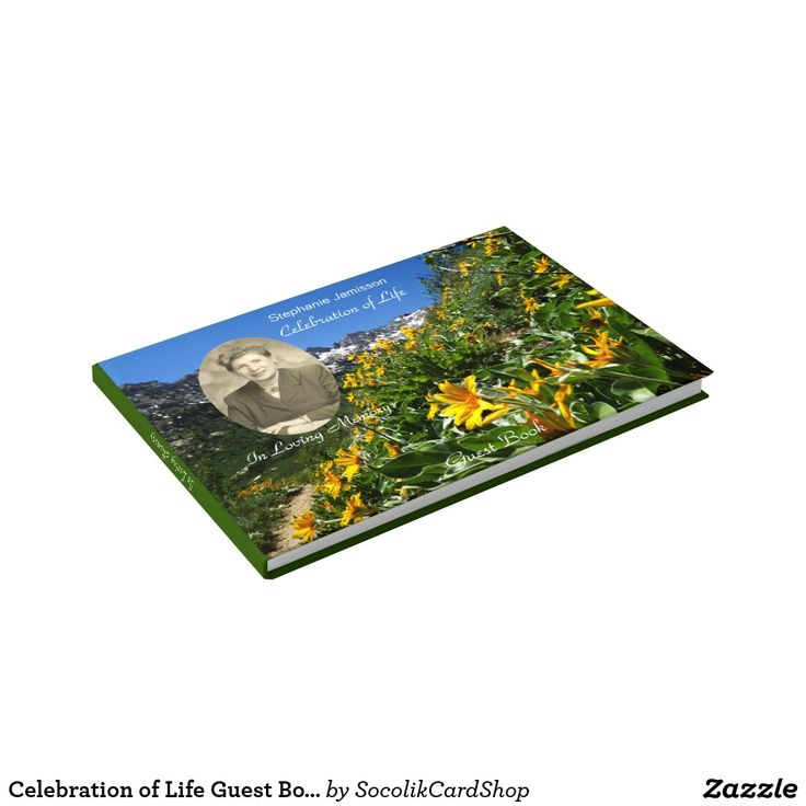 Celebration of Life Guest Book with Photo