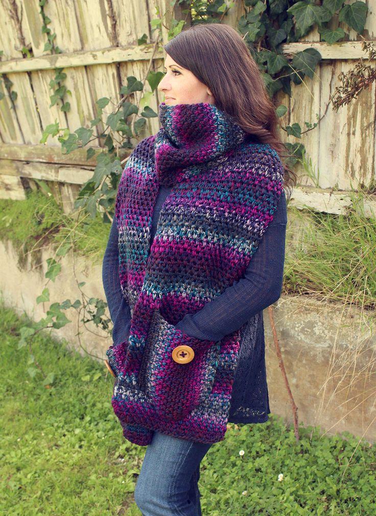 359 best Crochet Adult Scarves images on Pinterest | Head scarfs ...
